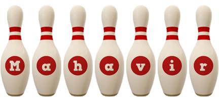 Mahavir bowling-pin logo