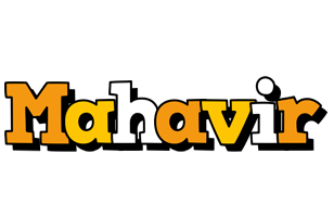 Mahavir cartoon logo