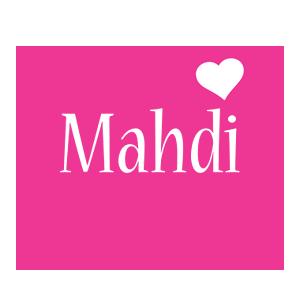 Mahdi love-heart logo