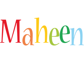 Maheen birthday logo