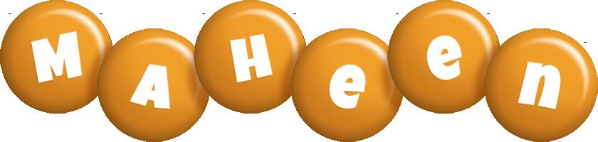 Maheen candy-orange logo