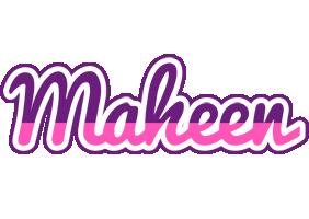 Maheen cheerful logo