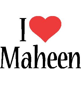 Maheen i-love logo