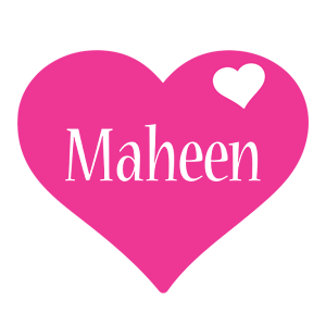 Maheen love-heart logo