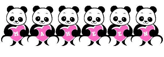 Maheen love-panda logo