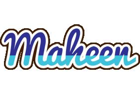 Maheen raining logo