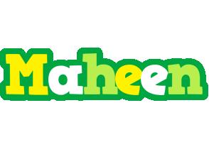 Maheen soccer logo