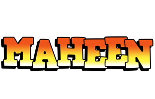 Maheen sunset logo