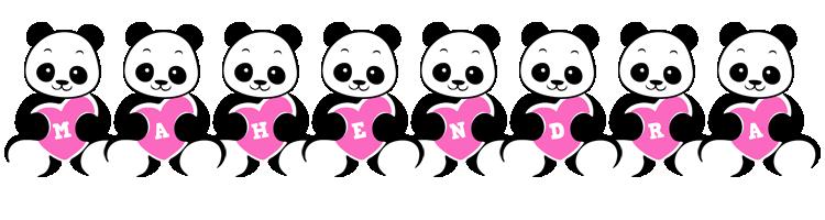 Mahendra love-panda logo