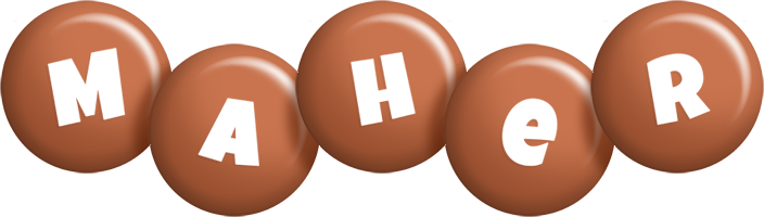 Maher candy-brown logo