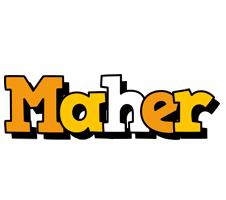 Maher cartoon logo