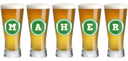Maher lager logo