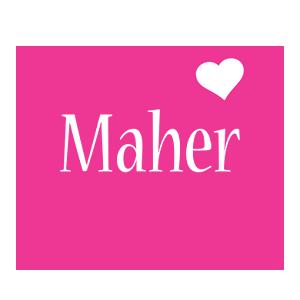 Maher love-heart logo