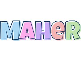 Maher pastel logo