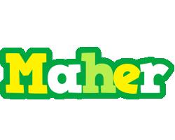 Maher soccer logo