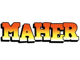 Maher sunset logo