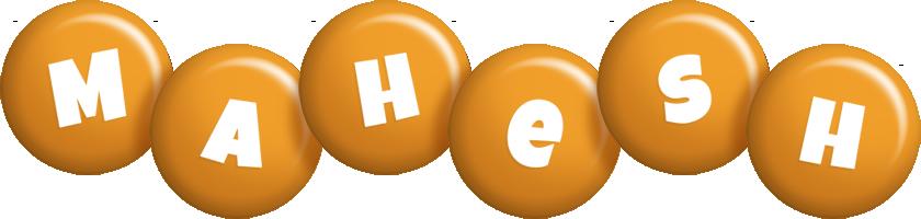 Mahesh candy-orange logo