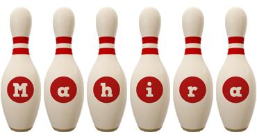 Mahira bowling-pin logo