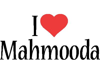 Mahmooda i-love logo