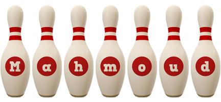 Mahmoud bowling-pin logo