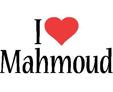 Mahmoud i-love logo