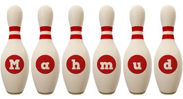 Mahmud bowling-pin logo