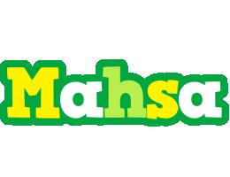 Mahsa soccer logo
