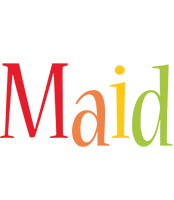 Maid birthday logo