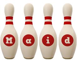 Maid bowling-pin logo