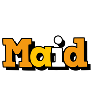 Maid cartoon logo