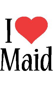 Maid i-love logo