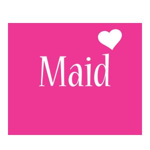 Maid love-heart logo