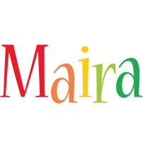 Maira birthday logo