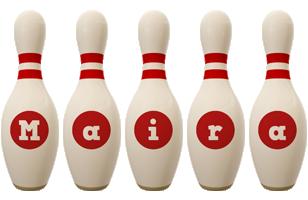 Maira bowling-pin logo