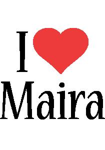 Maira i-love logo