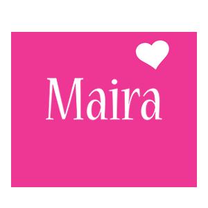Maira love-heart logo