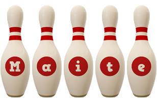 Maite bowling-pin logo