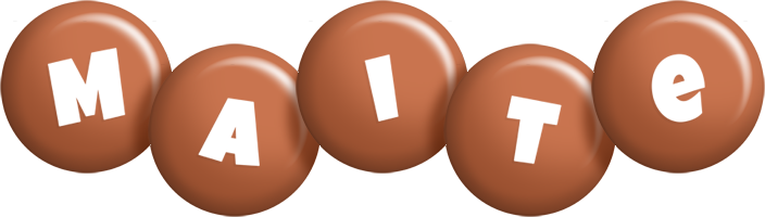 Maite candy-brown logo