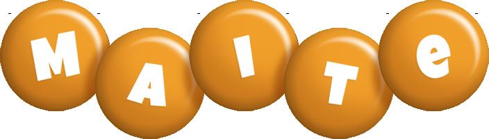Maite candy-orange logo