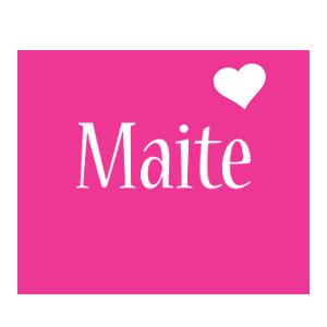 Maite love-heart logo