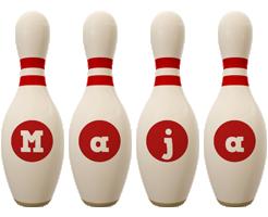 Maja bowling-pin logo