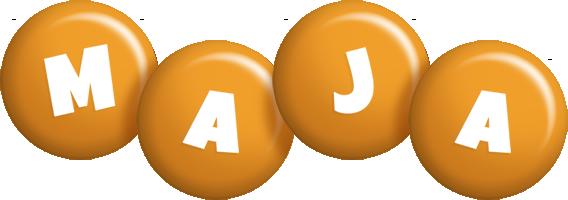 Maja candy-orange logo