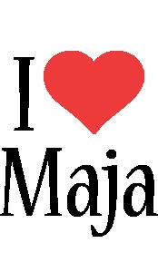 Maja i-love logo