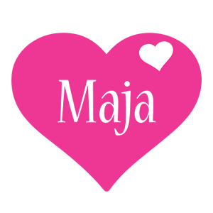 Maja love-heart logo