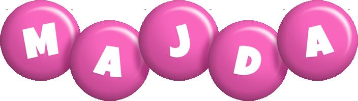 Majda candy-pink logo