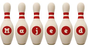 Majeed bowling-pin logo