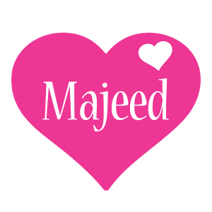Majeed love-heart logo