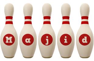Majid bowling-pin logo