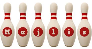 Majlis bowling-pin logo