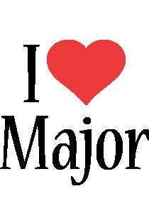 Major i-love logo